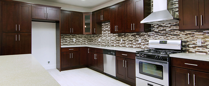Espresso shaker kitchen cabinet kitchen cabinets south for Cheap kitchen cabinets san diego