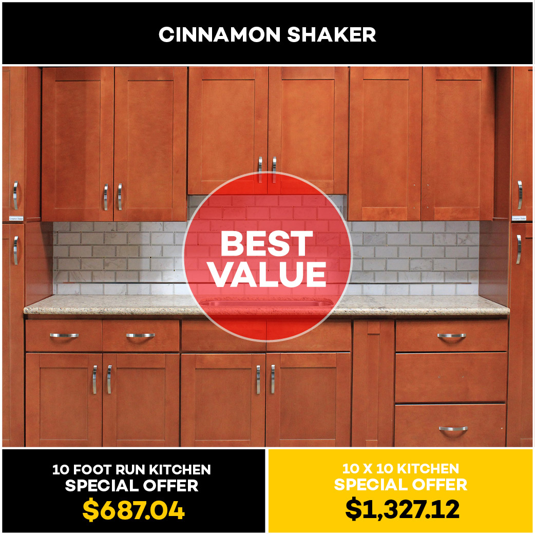 Cinnamon Shaker Kitchen Cabinet