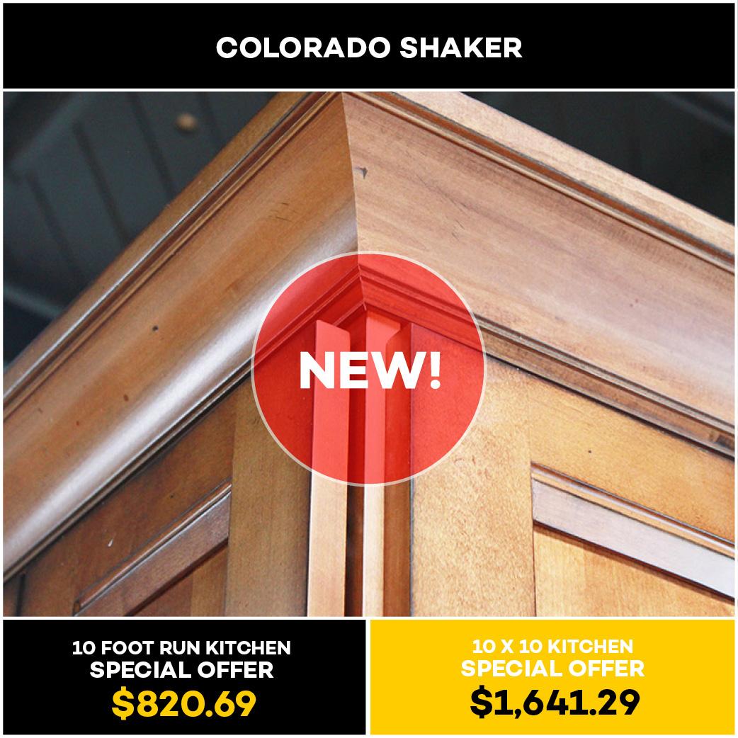 Colorado Shaker Kitchen and Bath Cabinet
