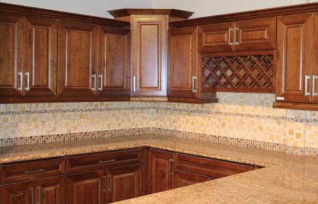 Gorgeous Walnut Shaker Cabinets