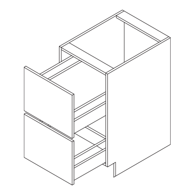Drawer Baser 2 Doors