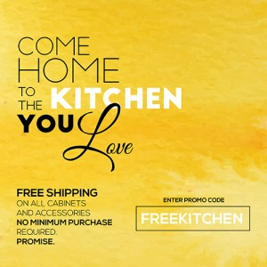 Free shipping on kitchen cabinet