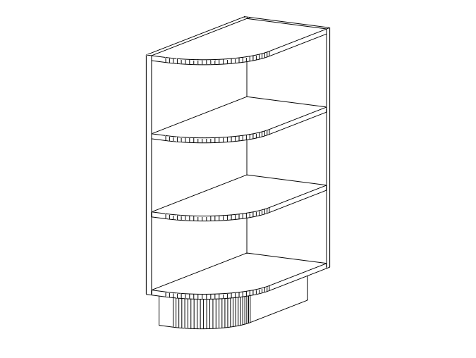 Acs Base End Open Shelf Right