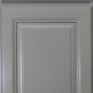 Gray Raised Panel Kitchen Cabinet