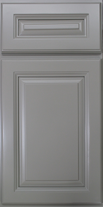 Gray Raised Panel Kitchen Cabinet