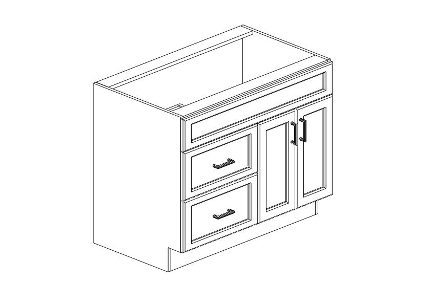 SCW - Vanity Cabinet - VSD3621L - Kitchen Cabinets South ...