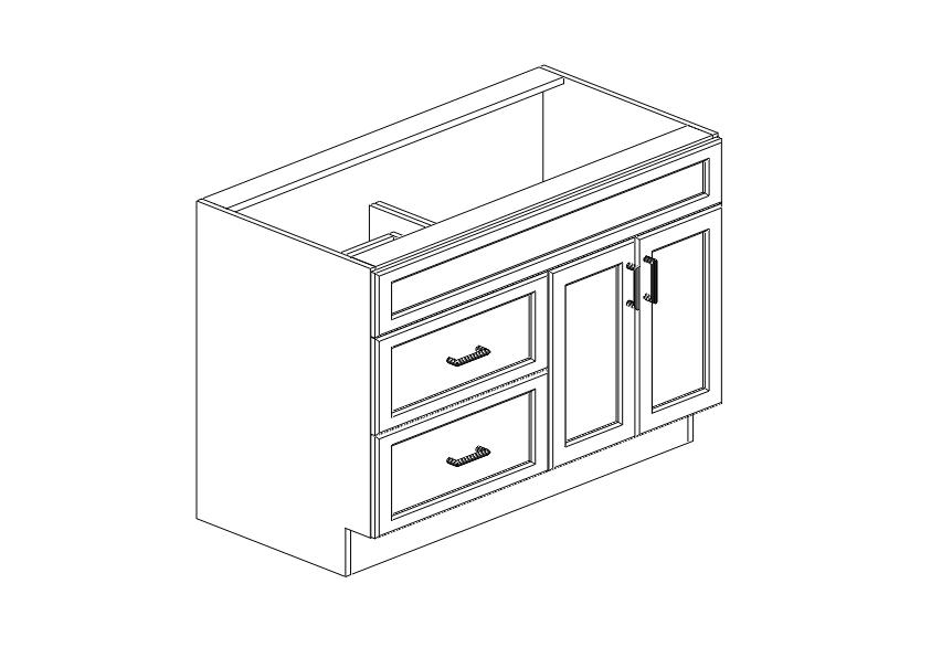 CG - Vanity Cabinet - VSD4221L - Kitchen Cabinets South El ...