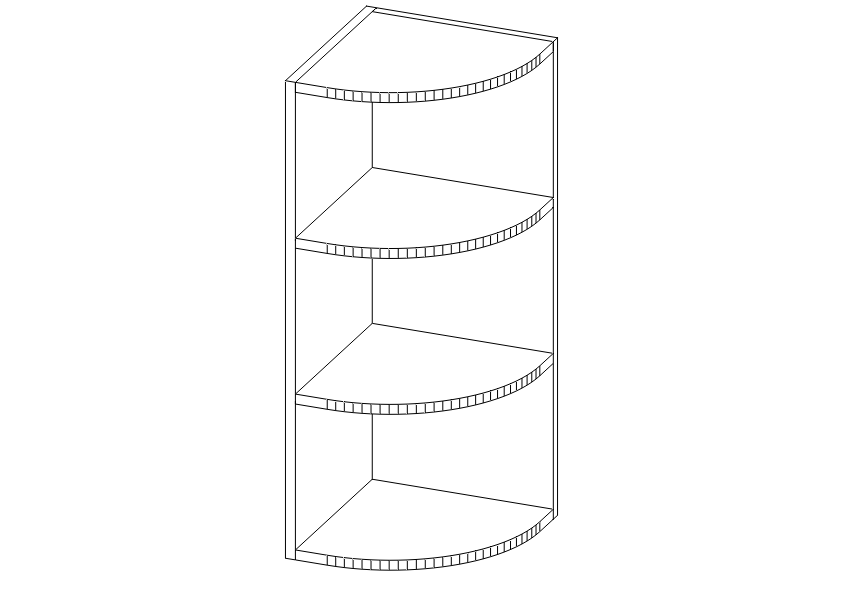 Ws Wall End Shelf Cabinet Wes0942