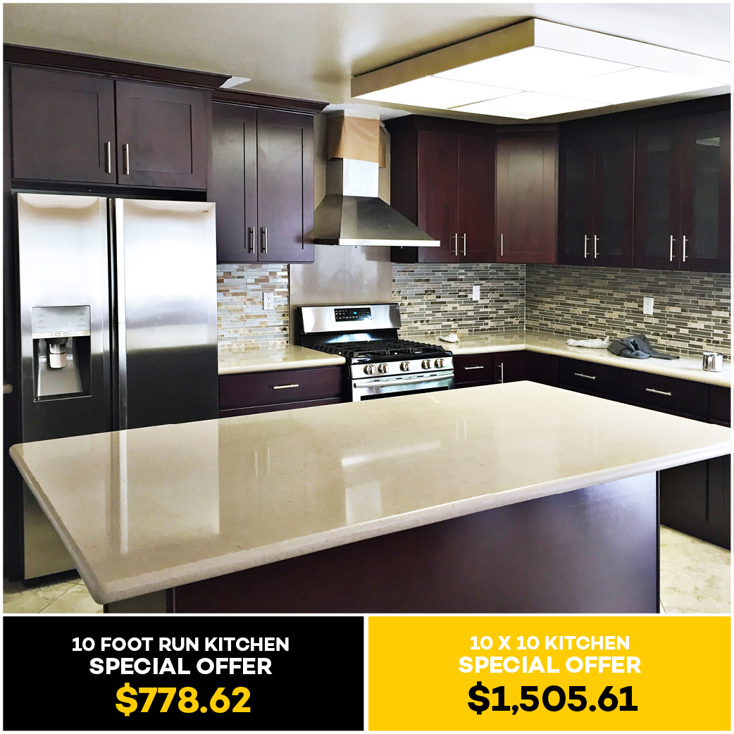 Espresso Shaker Kitchen Cabinet - Kitchen Cabinets South El Monte ...