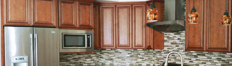 Mocha Glaze Kitchen Cabinet
