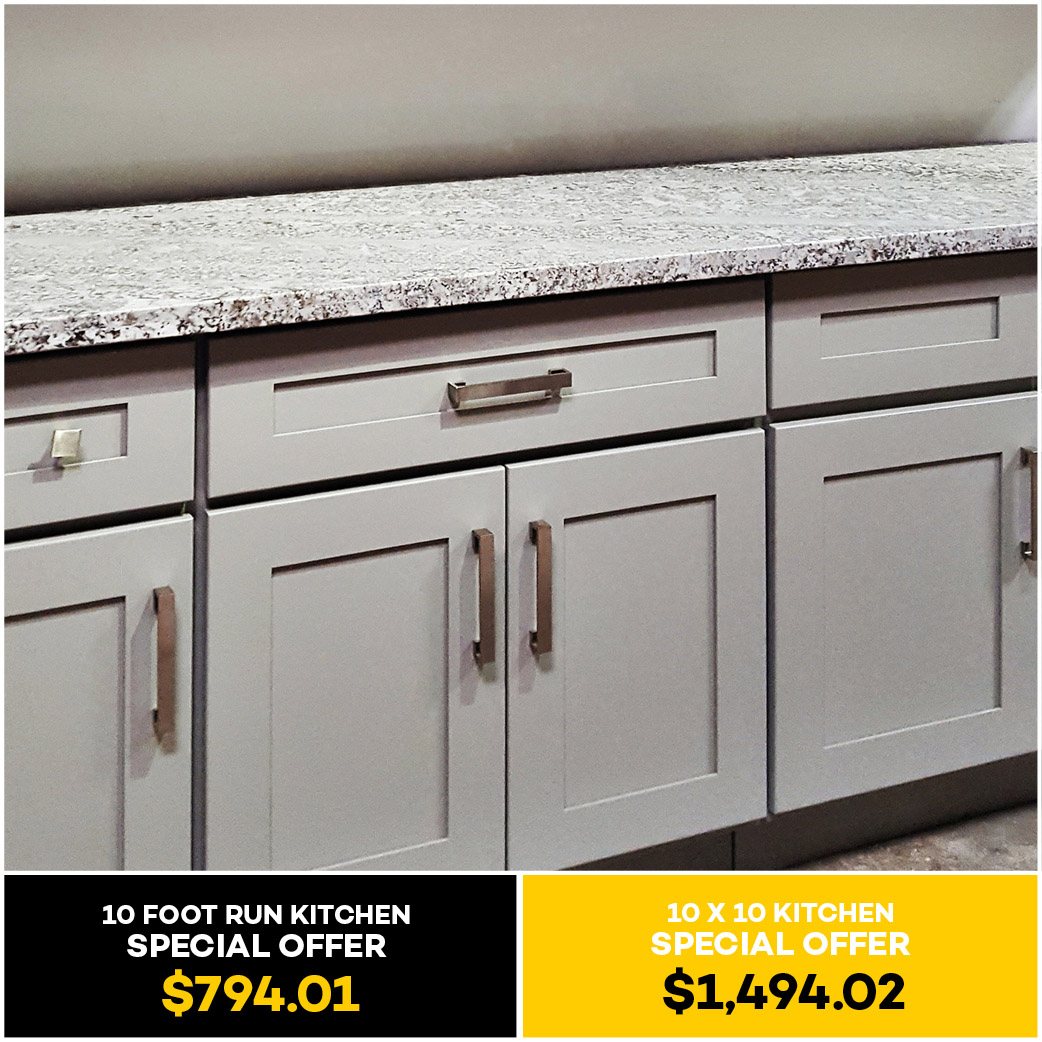 Shaker gray kitchen cabinet kitchen cabinets south el for Grey kitchen units sale