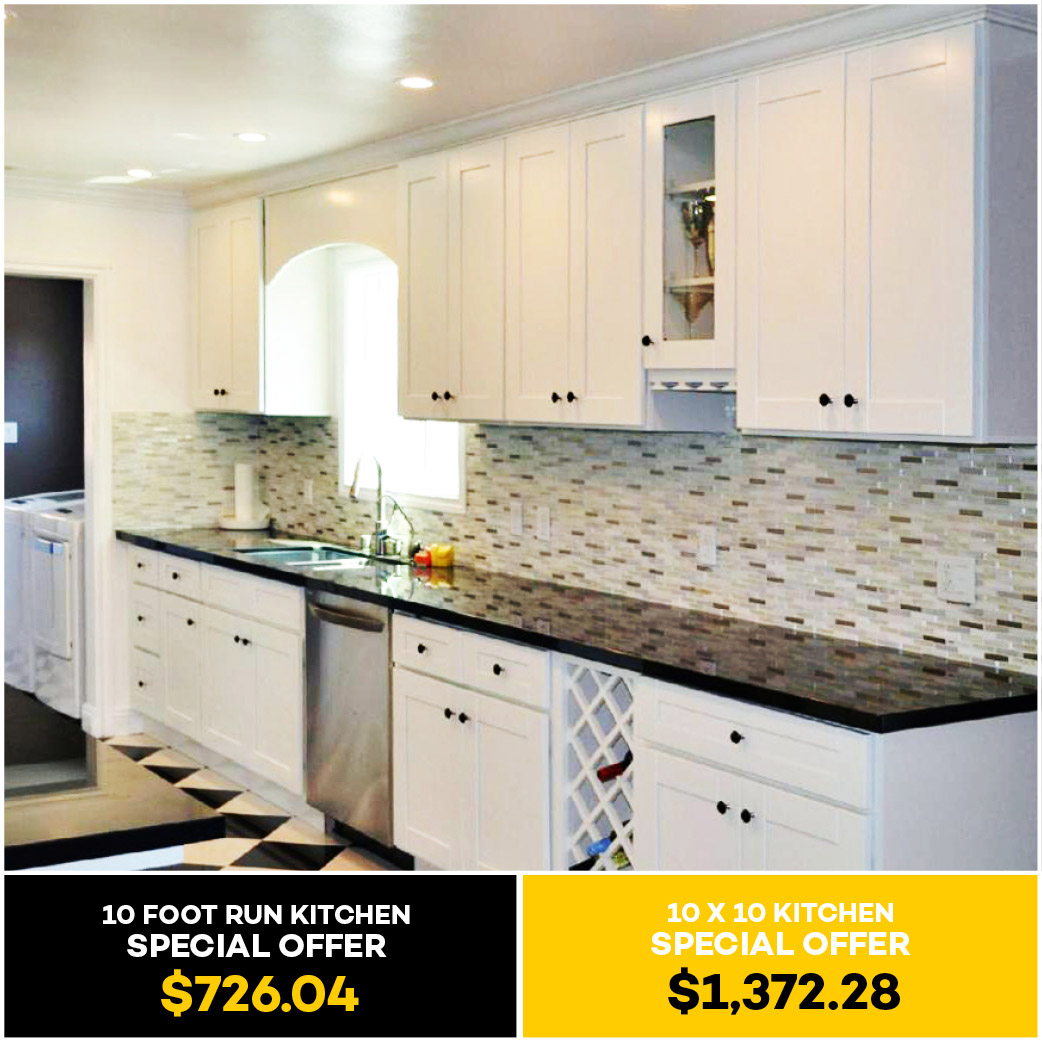 Classic White Shaker Kitchen Cabinet - Kitchen Cabinets South El ...